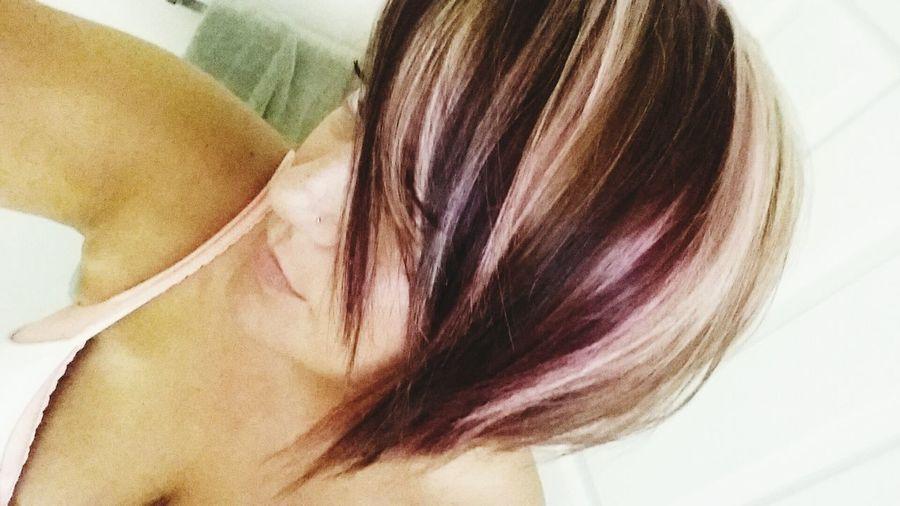 Invertedbob Red Hair Blonde Highlights Hair