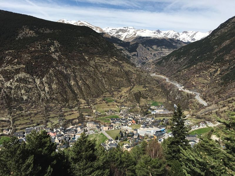 Andorra🇦🇩 Andorra Encamp Mountain Sky Day Nature Plant Beauty In Nature No People Cloud - Sky Scenics - Nature Tranquil Scene Tranquility Tree Environment Landscape Sunlight Mountain Range Land Non-urban Scene Outdoors High Angle View