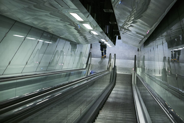 Metro Stairs Underground Architecture Built Structure Convenience Day Futuristic Illuminated Indoors  Metro Station Modern No People Technology