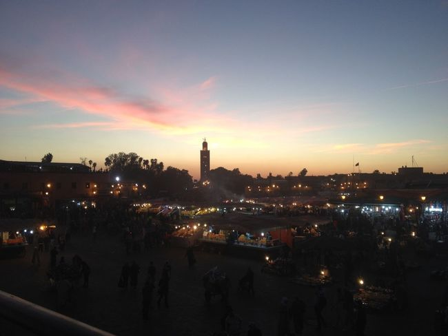 #Marrakesh #morocco #Mosque #sunset Architecture Built Structure Cityscape Cloud Illuminated Orange Color Sky Sunset Travel Destinations Miles Away