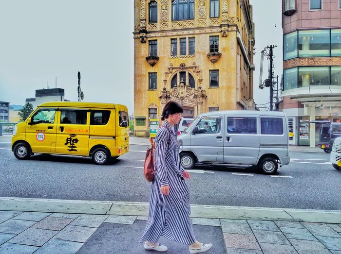 Yellowcar Yellowhouse Take Photos Travel Nature People Streetphotography Ontheroad Building Exterior Cutecar Walking City Full Length Standing Women Girls Land Vehicle Car Young Women