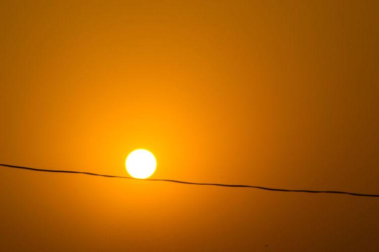 Nikon Cloud - Sky Delhi Orange Orange Color Sunset Tree Moon Beauty Yellow Sun Electricity  Silhouette Illuminated Colored Background Electricity Tower Astronomy 10
