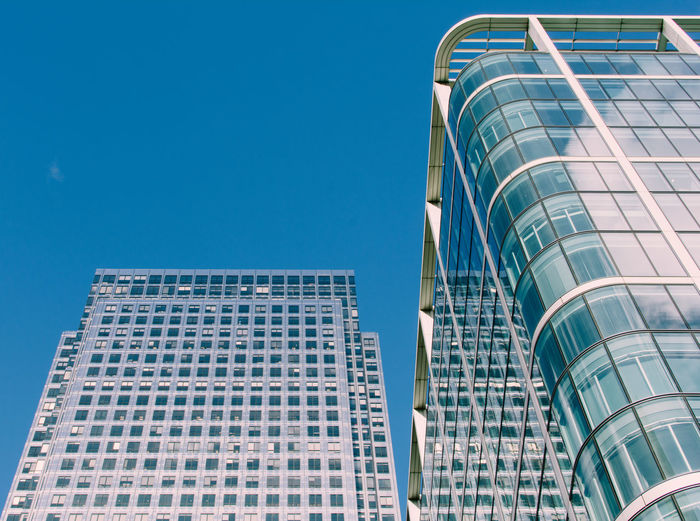 Canary Wharf Architecture Architecture Building Exterior Built Structure Canada Square Canary Wharf City Clear Sky Day Empty City Empty Places Floating Lotus Grid Hidden Gems  Isolation Leading Lines London Low Angle View No People One Canada Square Outdoors Sky Skyscraper Urban Geometry Zombie Land