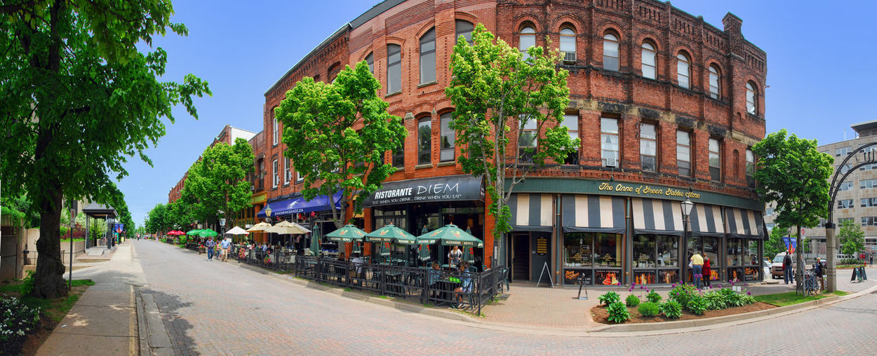 Charlottetown City City Street P.E.I. Panorama Restaurants Blue Sky Queen Street