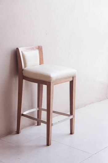 wood chair vintage Chair Close-up Day Home Interior Indoors  Interior Design No People Room Decor Vintage Wall - Building Feature White Color Wood