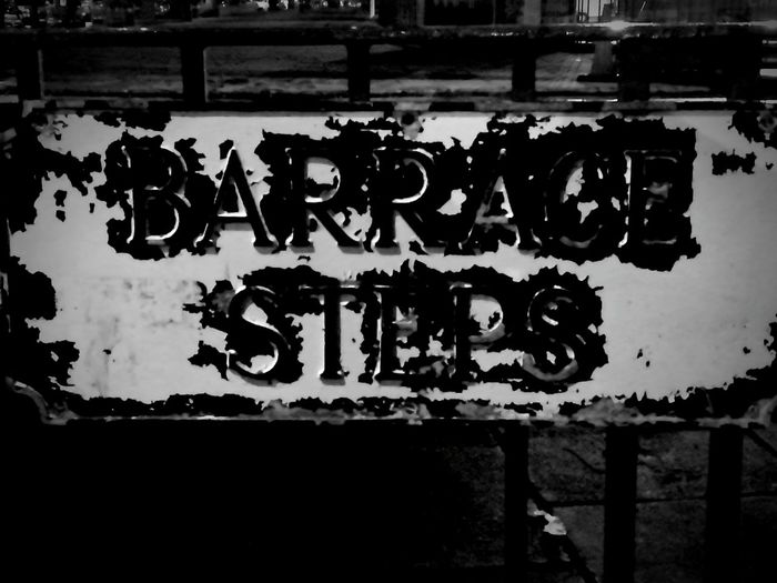 Barrace Steps Edinburgh Text No People Metal Outdoors Close-up Edinburgh Tourism Sign Blackandwhite Black And White Black & White Black And White Photography Metal Sign Historic City Old Old Sign Old Town