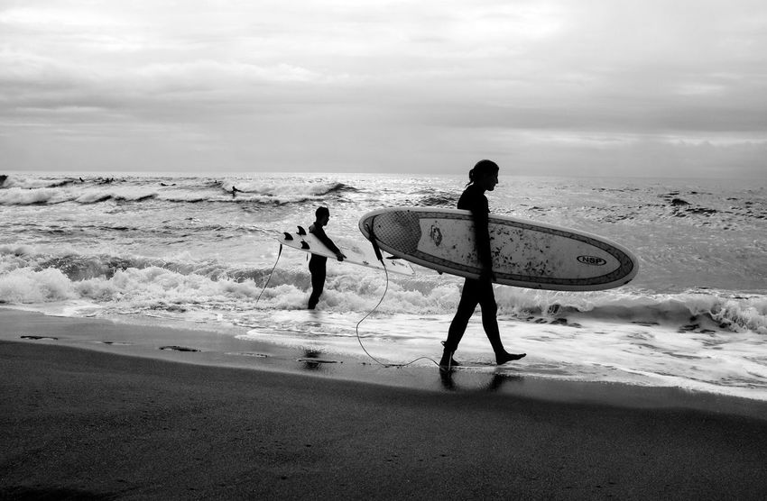 Surfers Enjoying Life Fuji X100s Summer Sea