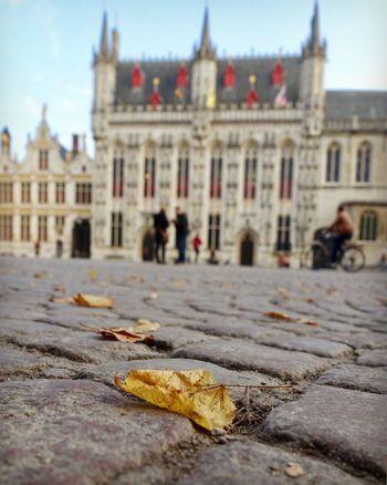 Brugge Architecture Cobblestone Streets Evening