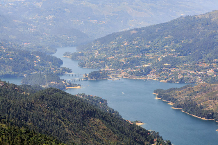 Gerês Portugal Caniçada Water Beauty In Nature Mountain Scenics - Nature Tree Nature Plant Environment Sea Day No People High Angle View Tranquil Scene Landscape Tranquility Architecture City Land Outdoors Bay