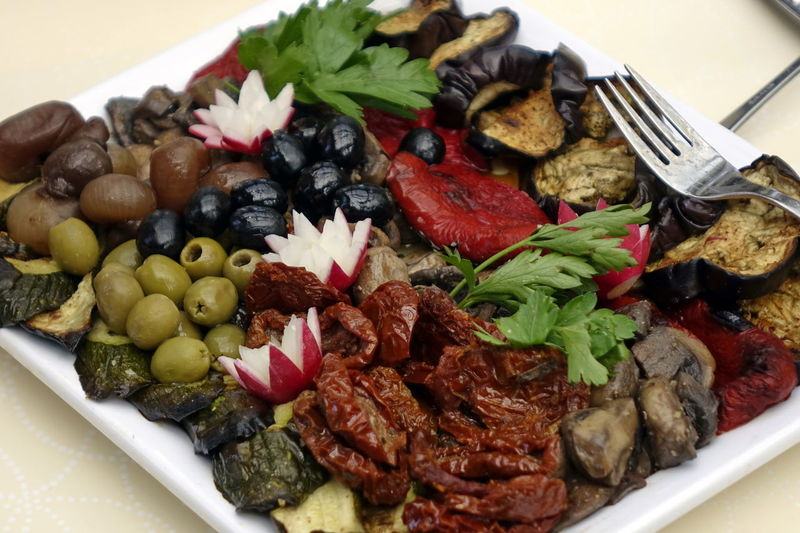 Antipasti Catering Food Close-up Day Food Food And Drink Freshness Healthy Eating High Angle View Indoors  Italian Food No People Plate Ready-to-eat Serving Size