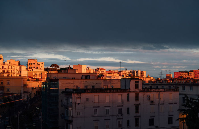 Sunset on Pozzuoli, Bay of Naples, Italy Architecture Bay Of Naples, Italy. Building Exterior Built Structure City Cityscape Cloud - Sky Community Day Napoli Nature Nature No People Outdoors Pozzuoli Residential Building Sky Sunset Stories From The City