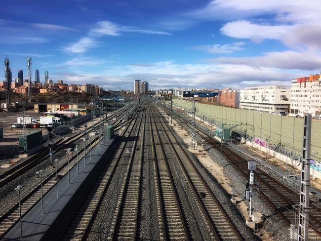 Railtracks Railroad Track Rail Transportation Transportation Sky Train - Vehicle Public Transportation High Angle View Mode Of Transport