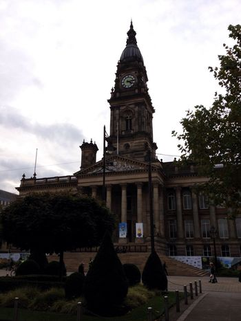 Bolton Town Hall Built Structure Architecture Outdoors Clock Tower Sky Building Exterior Tower Tree No People Day Clock