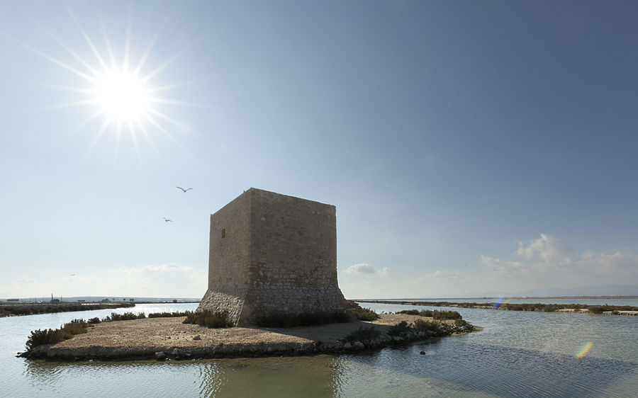 Tower of Tamarit in Santa Pola, province of Alicante, Spain. Alicante Coastline SPAIN Salinas Santa Pola Spanish Tamarit Architecture Beauty In Nature Built Structure Day Europe Landmark Landscape Natural Park Nature No People Outdoors Sea Sky Tower Water