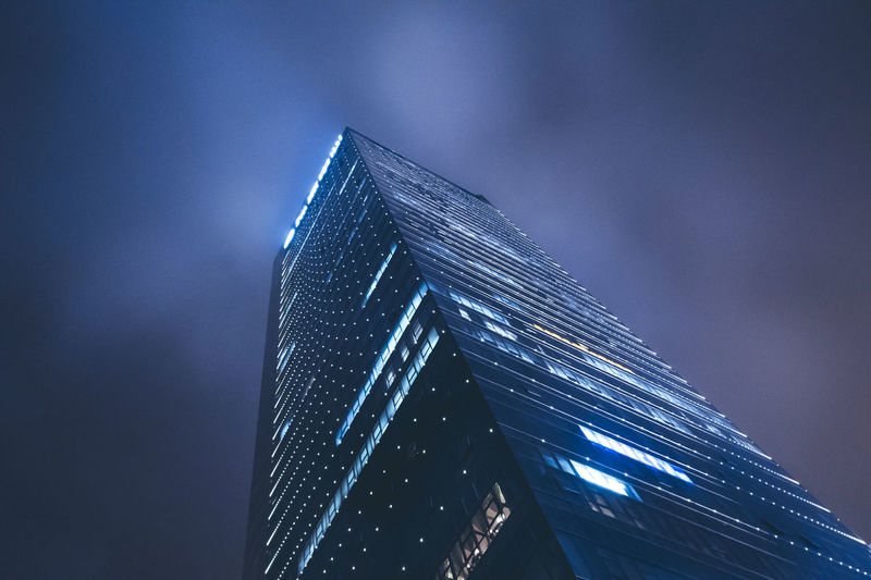Architecture Built Structure Capital Cities  Cities At Night City City Life Development Hefei Illuminated Low Angle View Modern Modern Night Nightscape Office Building Skyscraper Tall - High