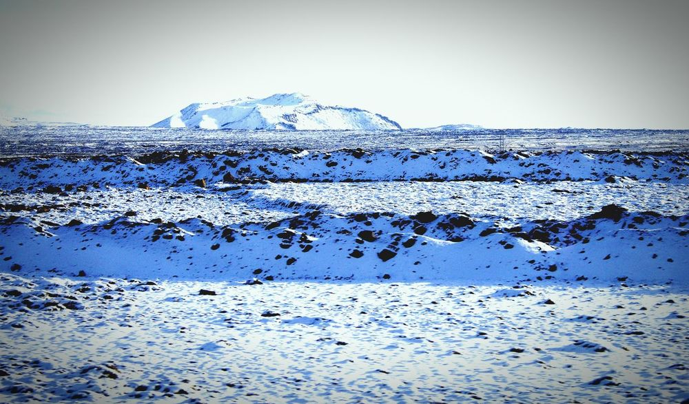 Ice Mountain Snow Lava Rocks