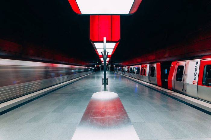Photography In Motion Travel Photography Germany Dramatic Lighting Streetphoto_color Check This Out Metro Station Red Feel The Journey