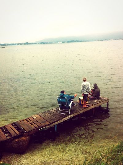 We Are Family even the rainy days are good to spend with family, and why not fishing with them? Relaxing Brazilianphoto