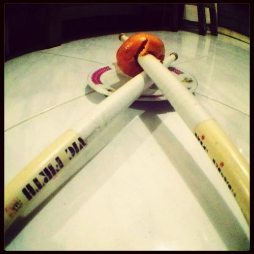 Orange in a stick Eat More Fruit Vicfirth Drummer4life Picoftheday