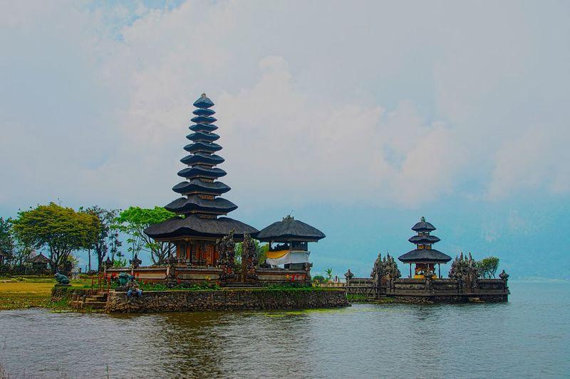 Nature Travel Bali Bedugul Temple Travel Destinations Landscape Outdoors Cloud - Sky