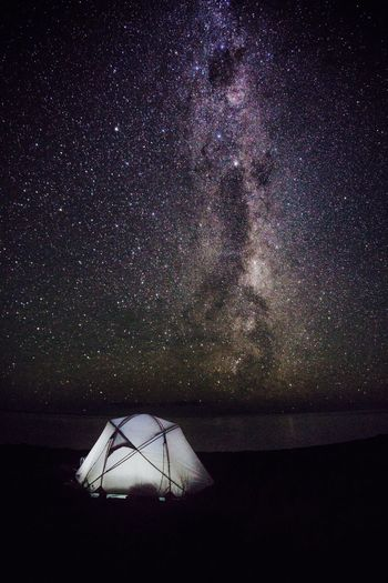 Camping at the beach Kaikoura New Zealand New Zealand Scenery Astronomy Beach Beauty In Nature Galaxy Horizon Over Water Milky Way Nature Newzealand Night No People Outdoors Scenics Sea Sky Star - Space Tent Tranquil Scene Tranquility Water