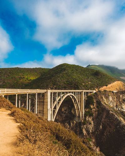 EyeEm Gallery EyeEm Selects Bixby Bridge Big Sur California Cloud - Sky Sky Built Structure Architecture Bridge Connection Bridge - Man Made Structure The Great Outdoors - 2019 EyeEm Awards