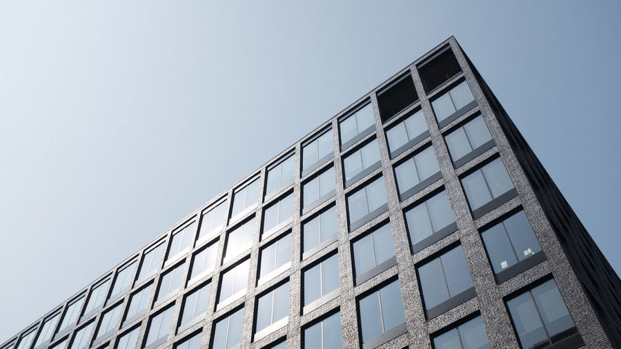 Apartment Architecture Building Building Exterior Built Structure City Clear Sky Day Design Glass - Material Low Angle View Modern Nature No People Office Office Building Exterior Outdoors Pattern Shape Sky Skyscraper Window
