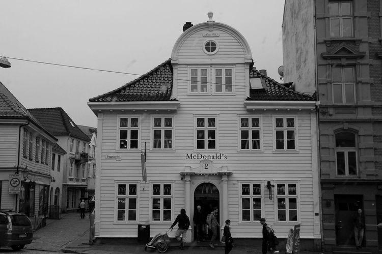 Norway Blackandwhite Mcdonalds