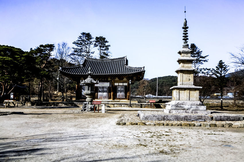 Architecture Buddhism Buddhist Temple Building Exterior Built Structure City Day Exterior Façade Famous Place House Old Place Outdoors Place Of Worship Religion Residential Structure Roof Silsangsa Spirituality Stone Tower Tree Winter