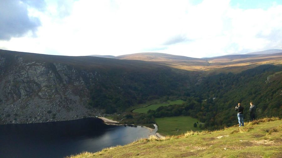 Wicklow Mountains  Wicklownationalpark Wicklow Guinness Lake Ireland Travel Photography Sunny Day Freshness Greenery