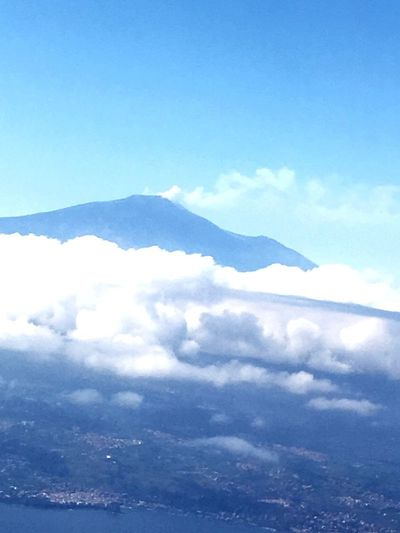 Sky Beauty In Nature ETNA vulcano view from plane Cloud - Sky