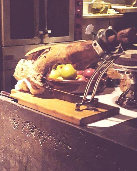 Iberico and Apple Ibérico Ibérico Ham Tapas Foodporn Food And Drink Flemish Baroque Style Still Life