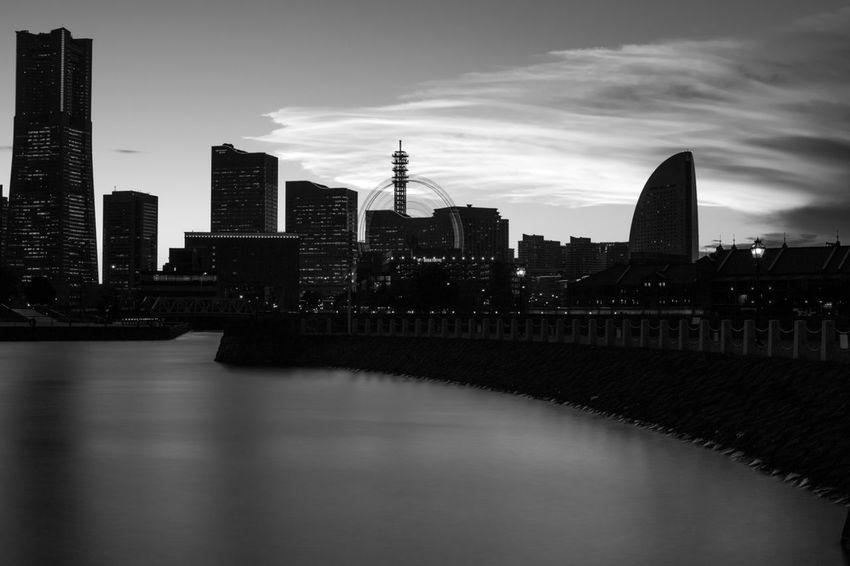 みなとみらいビル群 Yokohama みなとみらい 横浜市 Japan 日本 Monochrome モノクローム Olmpus
