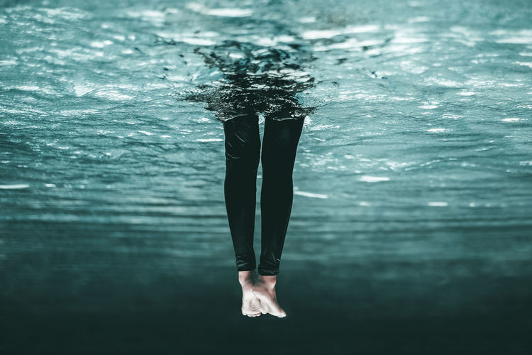 Abstract Blue Conceptual Leisure Activity Lifestyles One Person Real People Swimming Swimming Pool Underwater Upside Down Water #urbanana: The Urban Playground