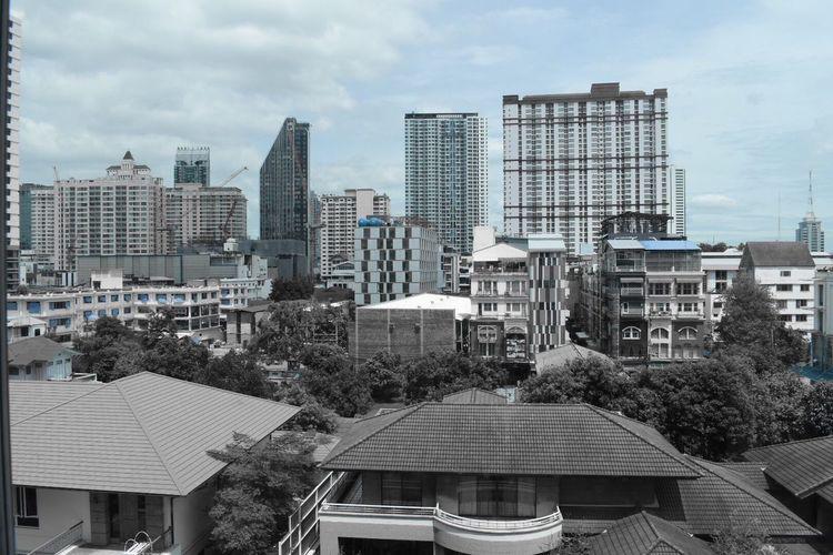 Bangkok City Tall - High Office Building Modern Hotel