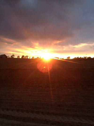 Sunset over Högamon.. Hello World Enjoying Life
