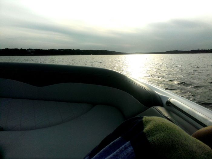 Riding in the boat is what i love the most.