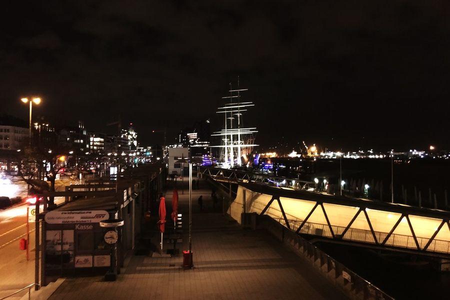 Hamburg Harbour Hamburg Night