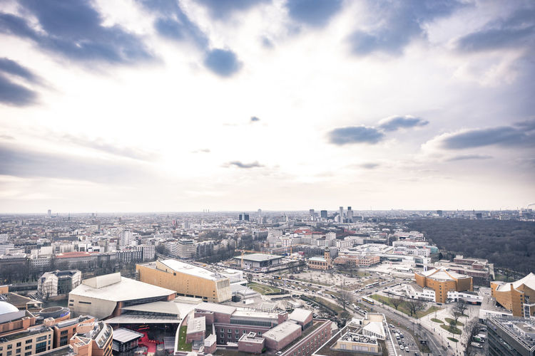berlin Berlin From Above  Winter Architecture Built Structure City Potsdamer Platz Colour Your Horizn