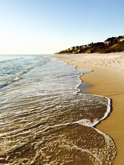 Rosemary Beach, Florida, USA. Photo by Tom Bland. Beach Sea Water Shore Waves Evening Warm Vacation Sand Coastline Coastal IPhone IPhoneography Florida Gulf Coast Ocean Idyllic Tranquil Scene Tranquility Summer Outdoors Vacations Escaping Calm Holiday
