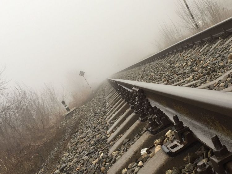 Way Railway Rails Fog Nastyday Road Secret Spaces