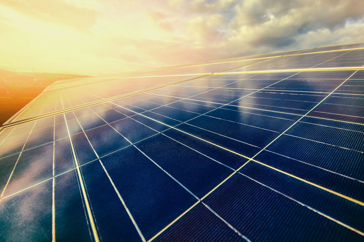 Alternative energy To conserve the world's energy (Solar panels in the sky) Sky Solar Energy Solar Panel Renewable Energy Alternative Energy Sun Environmental Conservation Environment Fuel And Power Generation Sunlight Technology Nature Cloud - Sky Sunset Outdoors No People Solar Power Station Pattern Lens Flare Day Power Supply Sustainable Resources