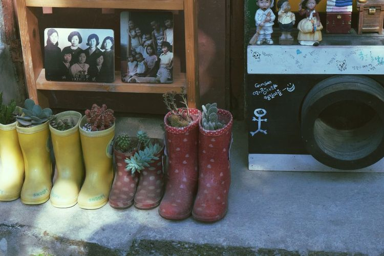 Rainboots No People Photo Shelf Camera Frame