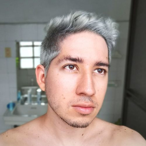 Gray haired