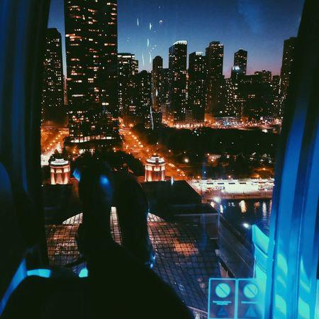 Night life. Skyscraper Architecture City Night Building Exterior Urban Skyline Sky Illuminated Chicago Chicago Architecture Chicago Skyline Ferris Wheel Night Lights Nightphotography Blue Sky Sunset 12daysofeyeem Boots Shoe Shoes Ferriswheel Cabin Wheel Blue Finding New Frontiers The Architect - 2017 EyeEm Awards