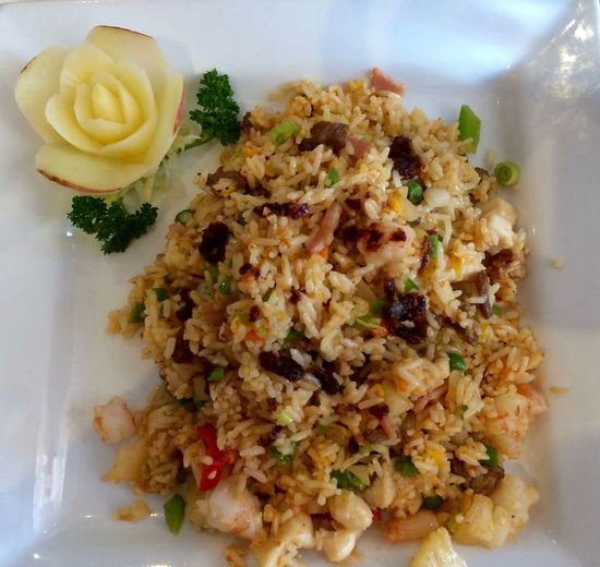 Beautiful Carving Close-up Colors The Mix Up Food Freshness Fried Rice Garnish Indulgence Meal Mixed Mixed Fried Rice No People Plate Ready-to-eat Rice Selective Focus Served Serving Size Still Life Tasty Temptation Thai Yummy