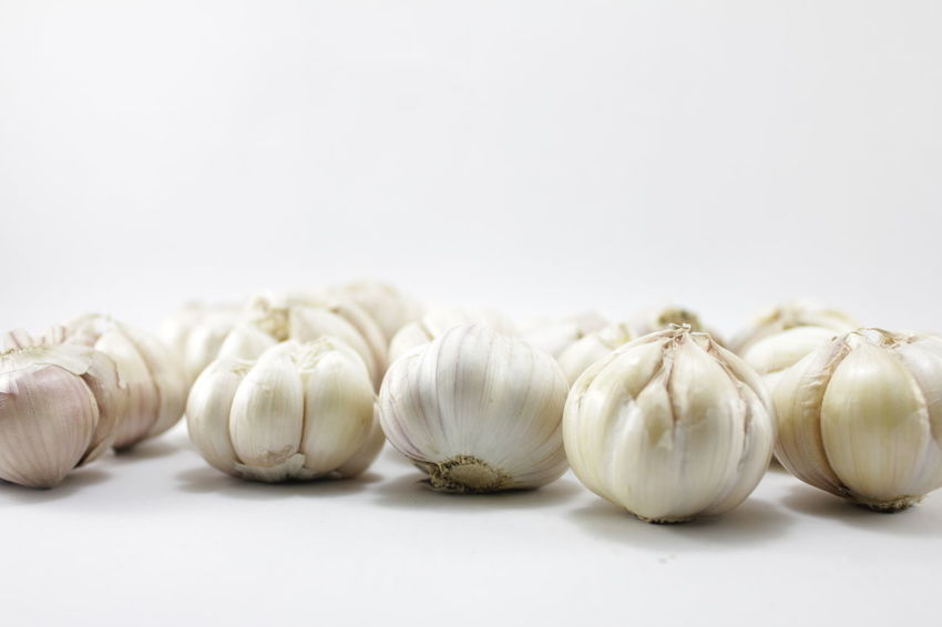 Garlic on a white background Garlic On A White Background Day Food Food And Drink Freshness Garlic Garlic Bulb Healthy Eating No People Plant Bulb Studio Shot Vegetarian Food White Background