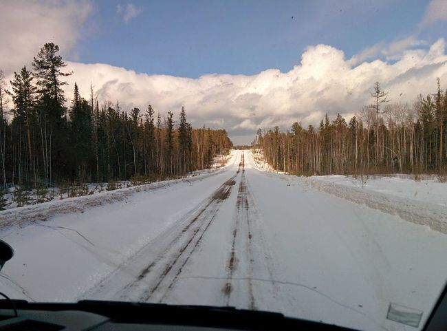 my travel in siberia Beauty In Nature Road Russia Siberia Tayga Travel Winter Winter Sky