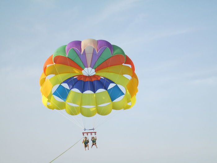 Love Excercise! Adventure Airball Bibione Italy Flying Hot Air Balloon Mid-air Parachute