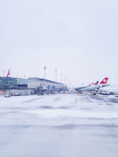 Zurich airport in the snow Zürich Switzerland Travel Flying First Eyeem Photo
